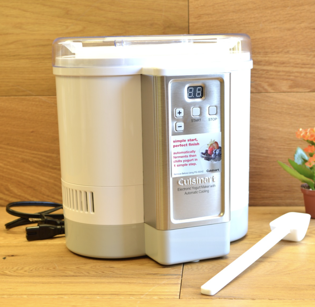 Cuisinart CYM-100 electric yogurt maker machine with automatic cooling - quick and simple
