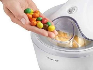 VonShef Ice Cream, Frozen Yogurt and Sorbet Maker Machine 1.5-QT - add extras smarties